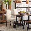 Rustic Mid-Century Modern 6-Seating Dining Tables In White And Natural Wood (Photo 18 of 25)