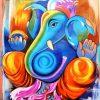 Abstract Ganesha Wall Art (Photo 15 of 15)