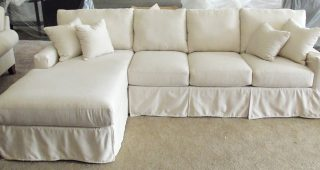 Slipcover Sectional Sofas With Chaise