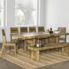 Hewn Oak Lorraine Pedestal Extending Dining Tables (Photo 14 of 25)
