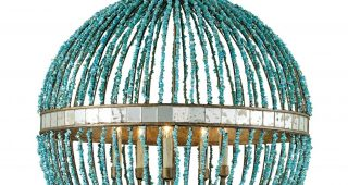 Turquoise Orb Chandeliers