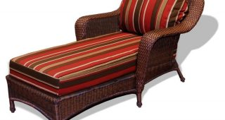 Outdoor Wicker Chaise Lounges