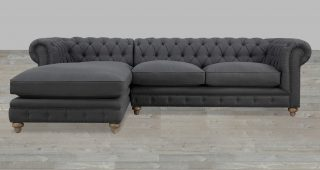 Tufted Sectionals With Chaise