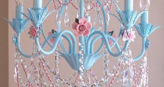 Turquoise And Pink Chandeliers