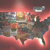 Usa Map Wall Art (Photo 15 of 15)