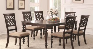 Laconia 7 Pieces Solid Wood Dining Sets (Set Of 7)
