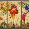 Abstract World Map Wall Art (Photo 8 of 15)