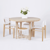 Solid Wood Circular Dining Tables White (Photo 2 of 25)