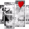 Banksy Canvas Wall Art (Photo 9 of 15)