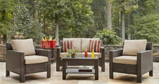 Hampton Bay Patio Conversation Sets