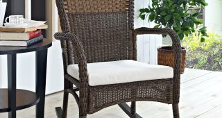 Wicker Rocking Chairs And Ottoman
