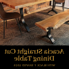 Acacia Dining Tables With Black X-Legs (Photo 16 of 25)