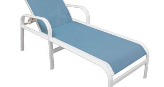 White Outdoor Chaise Lounges