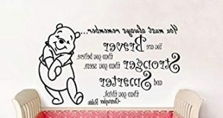 Winnie The Pooh Nursery Quotes Wall Art