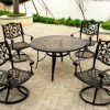 Wrought Iron Patio Rocking Chairs (Photo 10 of 15)